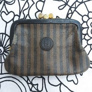 FENDI double sided coin purse